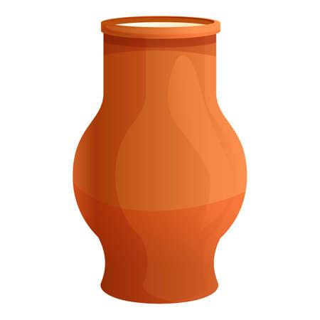 Farm ceramic milk jug icon. Cartoon of farm ceramic milk jug vector icon for web design isolated on white background
