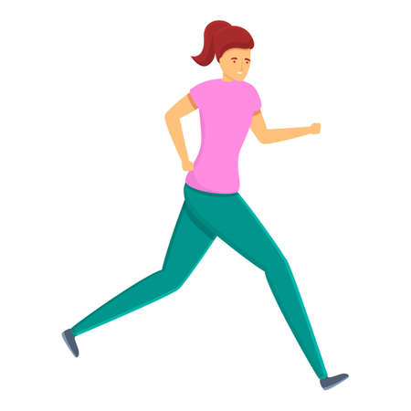 Running personal trainer icon. Cartoon of running personal trainer vector icon for web design isolated on white background  イラスト・ベクター素材