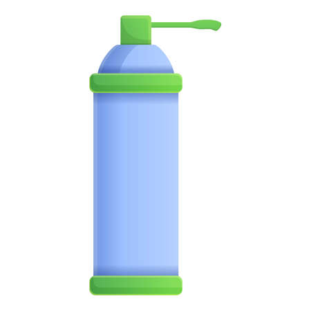 Dispenser gas bottle disinfection icon. Cartoon of dispenser gas bottle disinfection vector icon for web design isolated on white background Иллюстрация