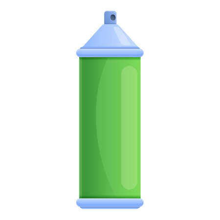 Metal disinfection gas bottle icon. Cartoon of metal disinfection gas bottle vector icon for web design isolated on white background Иллюстрация