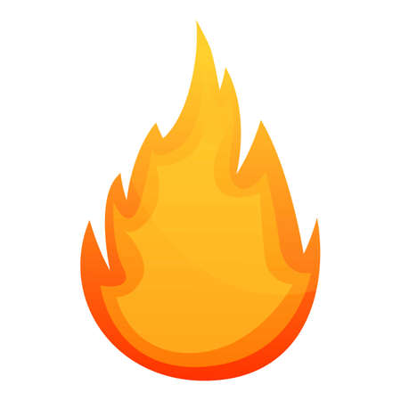 Danger fire flame icon. Cartoon of danger fire flame vector icon for web design isolated on white background
