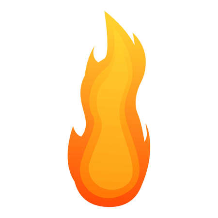 Power fire flame icon. Cartoon of power fire flame vector icon for web design isolated on white background Illustration