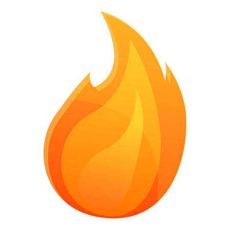 Creative burning flame icon. Cartoon of creative burning flame vector icon for web design isolated on white background Illustration