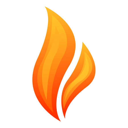 Flaming fire icon. Cartoon of flaming fire vector icon for web design isolated on white background