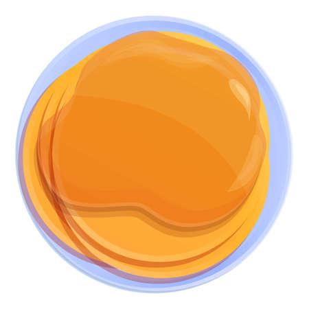 Homemade pancake icon. Cartoon of homemade pancake vector icon for web design isolated on white background Illustration
