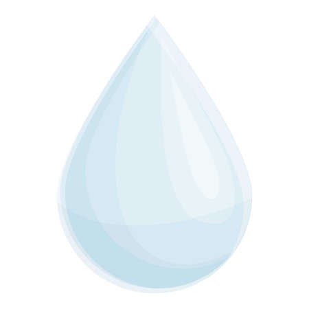 Breast feed milk drop icon. Cartoon of feed milk drop vector icon for web design isolated on white background