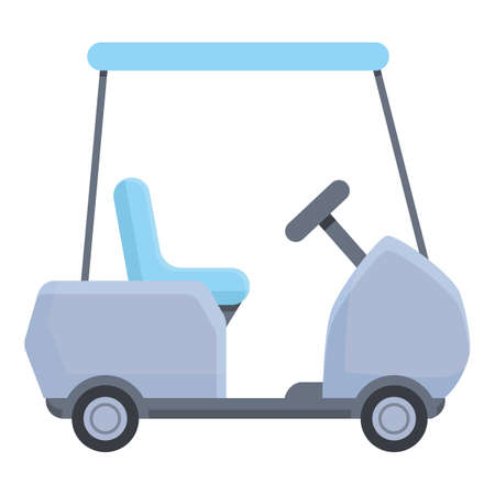 Equipment golf cart icon. Cartoon of equipment golf cart vector icon for web design isolated on white background