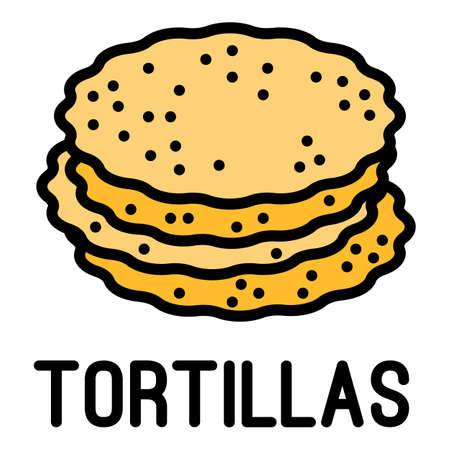Tortillas icon. Outline tortillas vector icon for web design isolated on white background Vettoriali