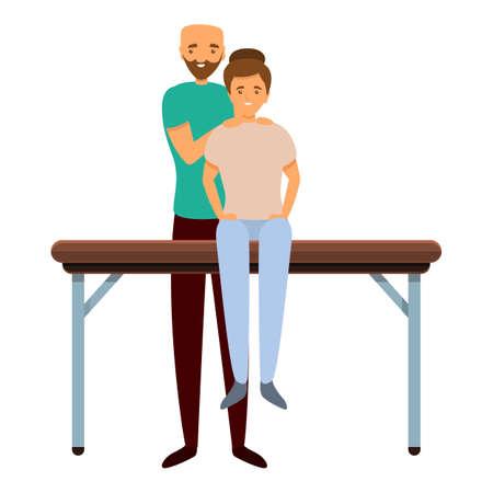 Back masseur icon. Cartoon of back masseur vector icon for web design isolated on white background Vektoros illusztráció