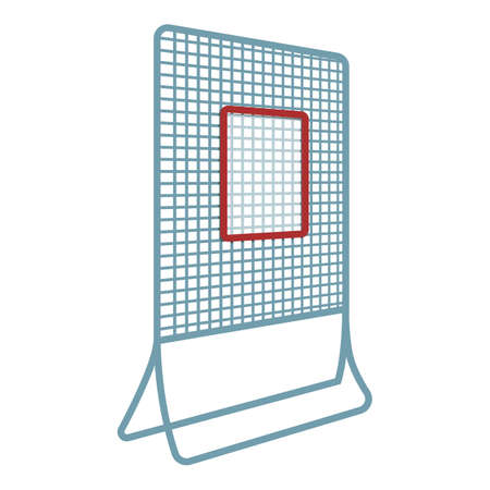 Hurling net gate icon. Cartoon of hurling net gate vector icon for web design isolated on white background