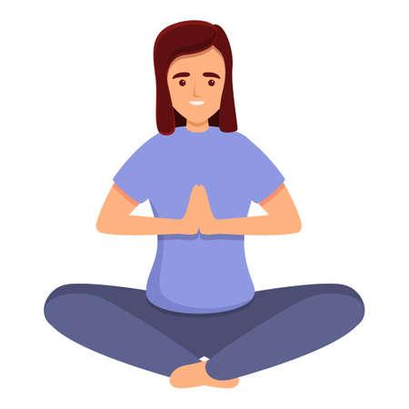 Home training meditation icon. Cartoon of home training meditation vector icon for web design isolated on white background Vektorové ilustrace