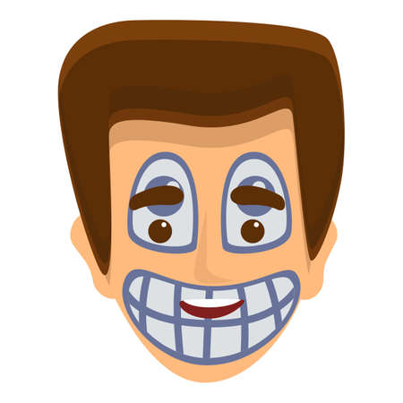 Laughing face painting icon. Cartoon of laughing face painting vector icon for web design isolated on white background