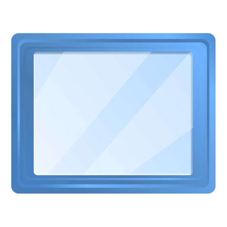 Museum photo frame icon. Cartoon of museum photo frame vector icon for web design isolated on white background
