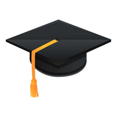 Celebration graduation hat icon. Cartoon of celebration graduation hat vector icon for web design isolated on white background
