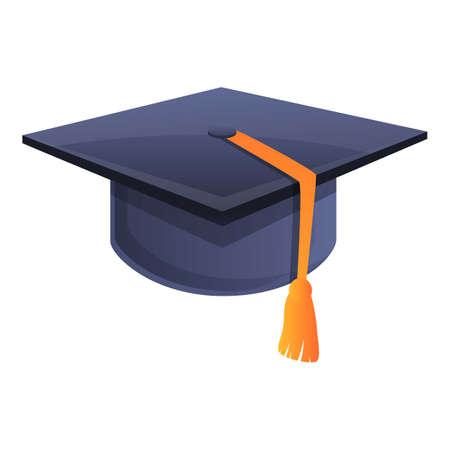 Ceremony graduation hat icon. Cartoon of ceremony graduation hat vector icon for web design isolated on white background