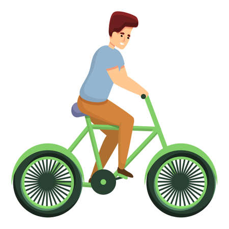 Lifestyle bike ride icon. Cartoon of lifestyle bike ride vector icon for web design isolated on white background