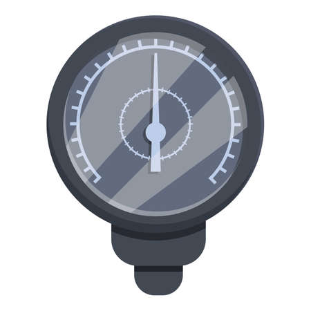 Manometer icon. Cartoon of manometer vector icon for web design isolated on white background