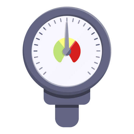 Meter manometer icon. Cartoon of meter manometer vector icon for web design isolated on white background