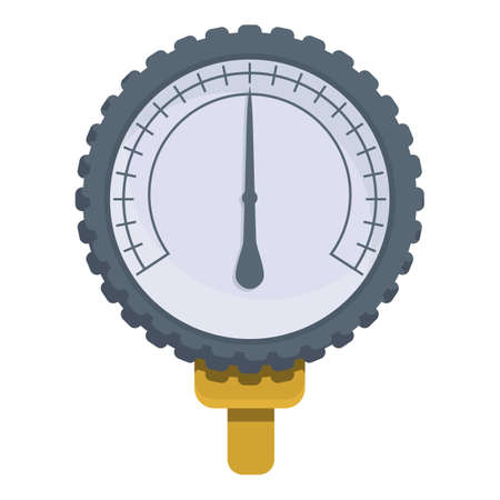 Pressure manometer icon. Cartoon of pressure manometer vector icon for web design isolated on white background Çizim