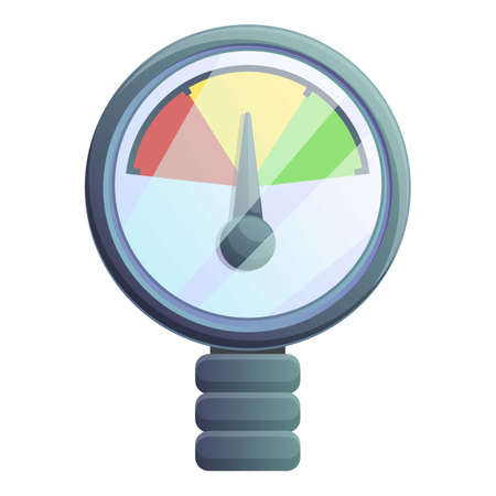 Colorful manometer icon. Cartoon of colorful manometer vector icon for web design isolated on white background Çizim