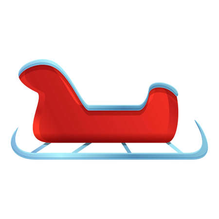 New year sleigh icon. Cartoon of New year sleigh vector icon for web design isolated on white background