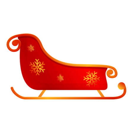 Carriage sleigh icon. Cartoon of carriage sleigh vector icon for web design isolated on white background