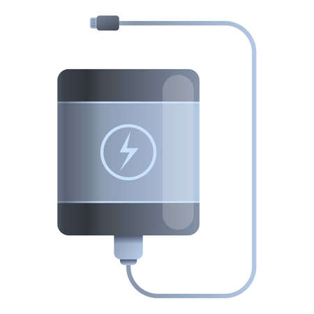 Charger power bank icon. Cartoon of charger power bank vector icon for web design isolated on white background Çizim