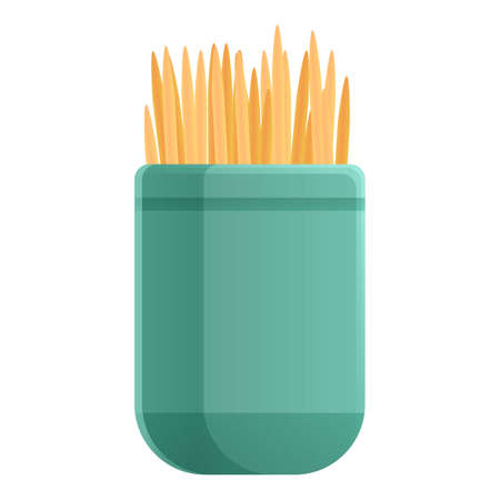 Kitchen box toothpick icon. Cartoon of kitchen box toothpick vector icon for web design isolated on white background Vettoriali