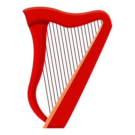 Melody harp icon. Cartoon of melody harp vector icon for web design isolated on white background