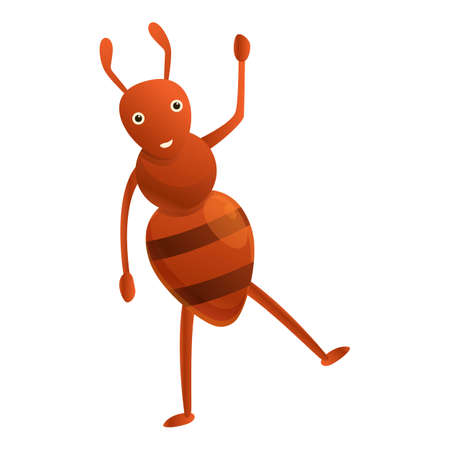 Dancing ant icon. Cartoon of dancing ant vector icon for web design isolated on white background