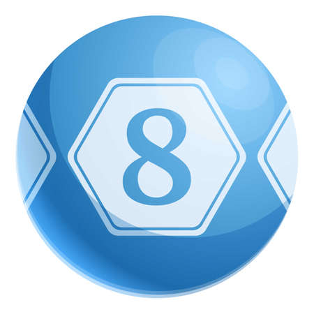 Lottery 8 sphere icon. Cartoon of lottery 8 sphere vector icon for web design isolated on white background