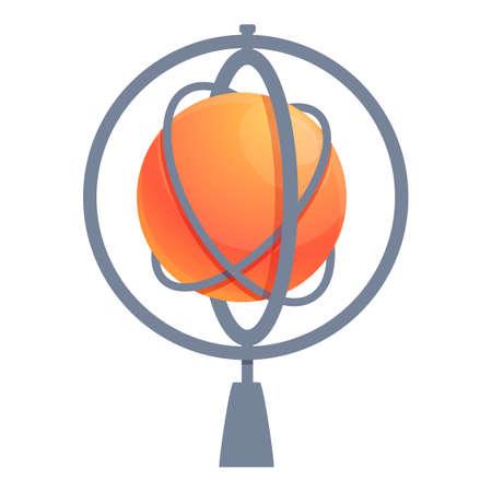 Mechanic gyroscope icon. Cartoon of mechanic gyroscope vector icon for web design isolated on white background