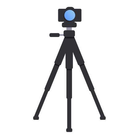 Camera tripod icon. Cartoon of camera tripod vector icon for web design isolated on white background Illusztráció