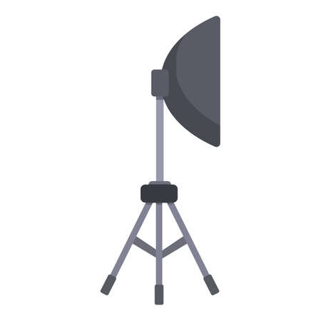 Studio light tripod icon. Cartoon of studio light tripod vector icon for web design isolated on white background Иллюстрация