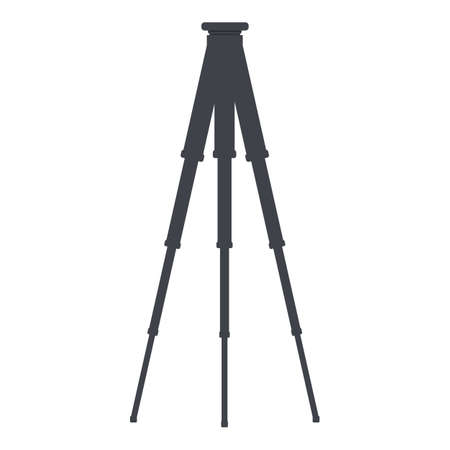 Steel tripod icon. Cartoon of steel tripod vector icon for web design isolated on white background Illustration