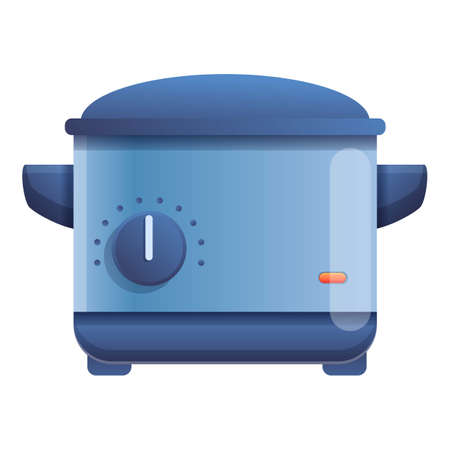 Gas deep fryer icon. Cartoon of gas deep fryer vector icon for web design isolated on white background Ilustração
