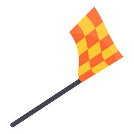 Referee flag icon. Cartoon of referee flag vector icon for web design isolated on white background Illusztráció