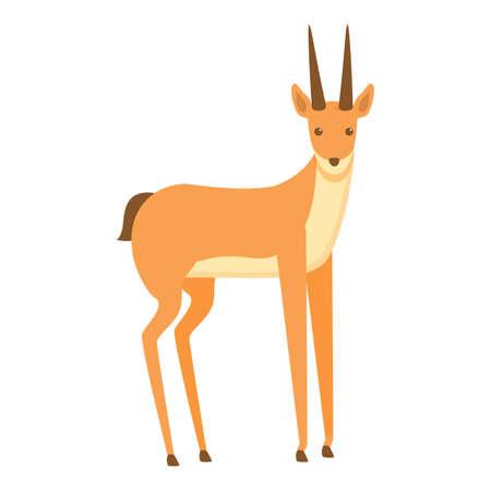 Animal gazelle icon. Cartoon of animal gazelle vector icon for web design isolated on white background