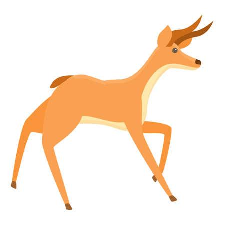Scared gazelle icon. Cartoon of scared gazelle vector icon for web design isolated on white background 向量圖像