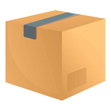 Warehouse parcel icon. Cartoon of warehouse parcel vector icon for web design isolated on white background