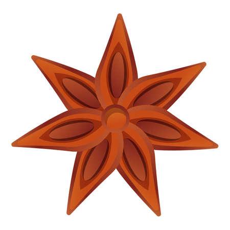 Cinnamon flower icon. Cartoon of cinnamon flower vector icon for web design isolated on white background Vektorgrafik