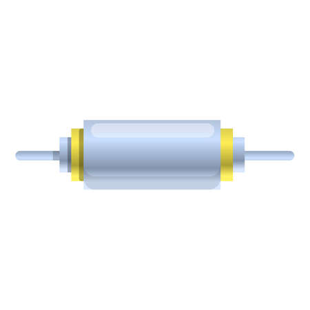 Element capacitor icon. Cartoon of element capacitor vector icon for web design isolated on white background