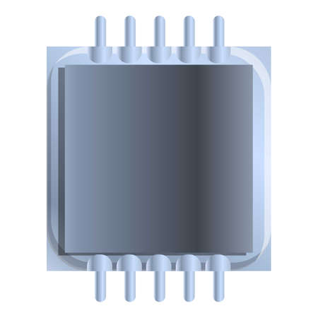 Processor capacitor icon. Cartoon of processor capacitor vector icon for web design isolated on white background