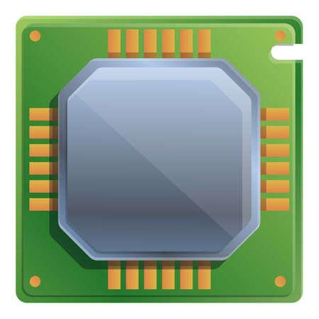 Central processor icon. Cartoon of central processor vector icon for web design isolated on white background Ilustração