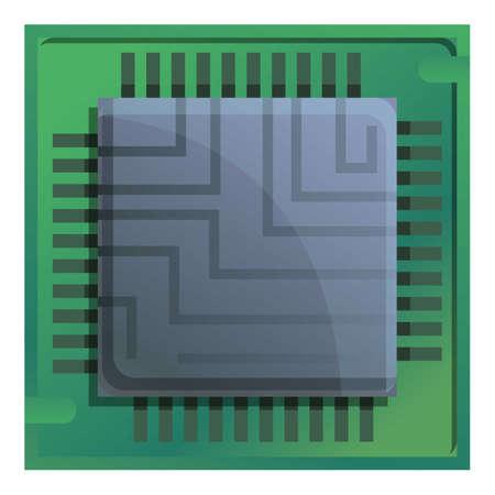 Computer processor icon. Cartoon of computer processor vector icon for web design isolated on white background Ilustração