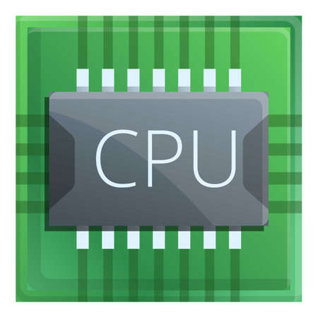 Chip processor icon. Cartoon of chip processor vector icon for web design isolated on white background