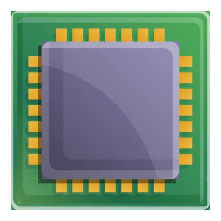 Quantum processor icon. Cartoon of quantum processor vector icon for web design isolated on white background Ilustração