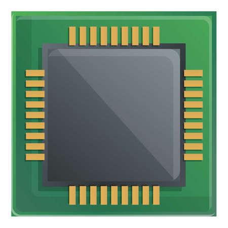Component processor icon. Cartoon of component processor vector icon for web design isolated on white background Ilustração
