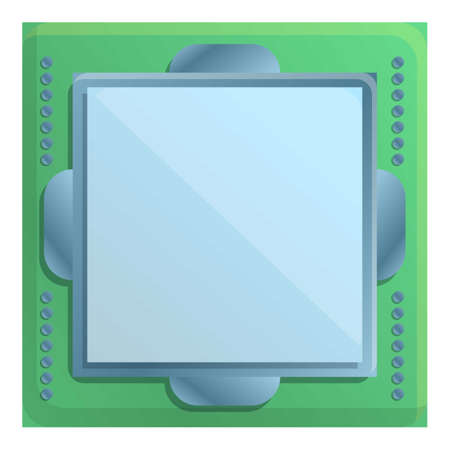 Phone processor icon. Cartoon of phone processor vector icon for web design isolated on white background