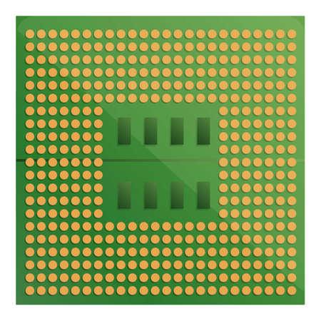 Gpu processor icon. Cartoon of gpu processor vector icon for web design isolated on white background